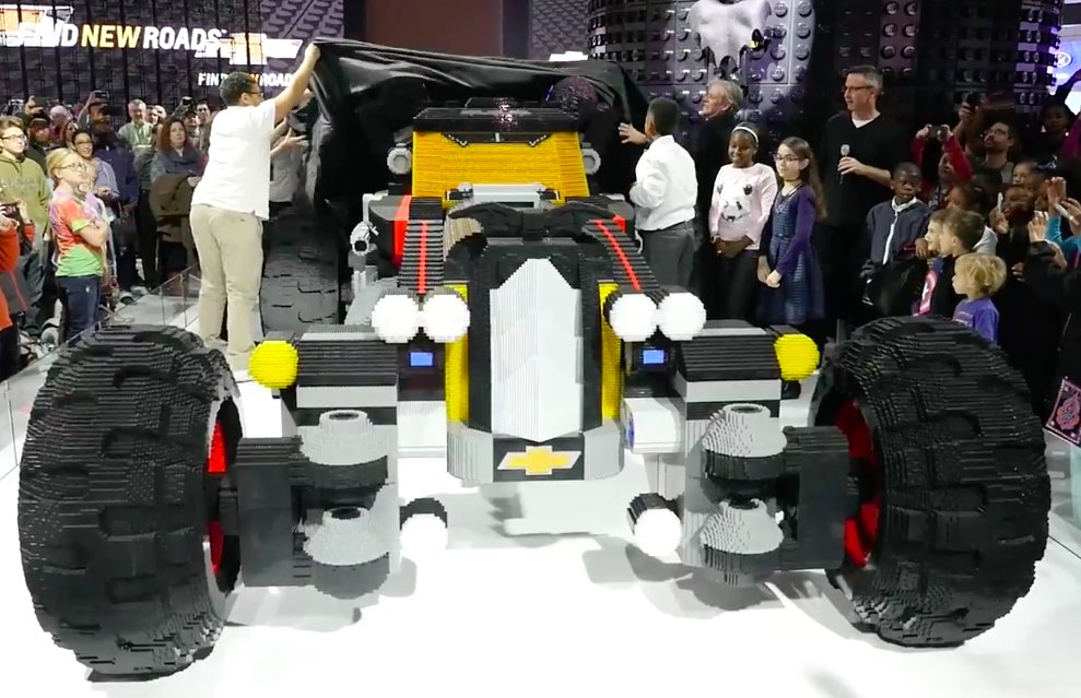 Chevy unveiled life-sized LEGO Batmobile in Detroit
