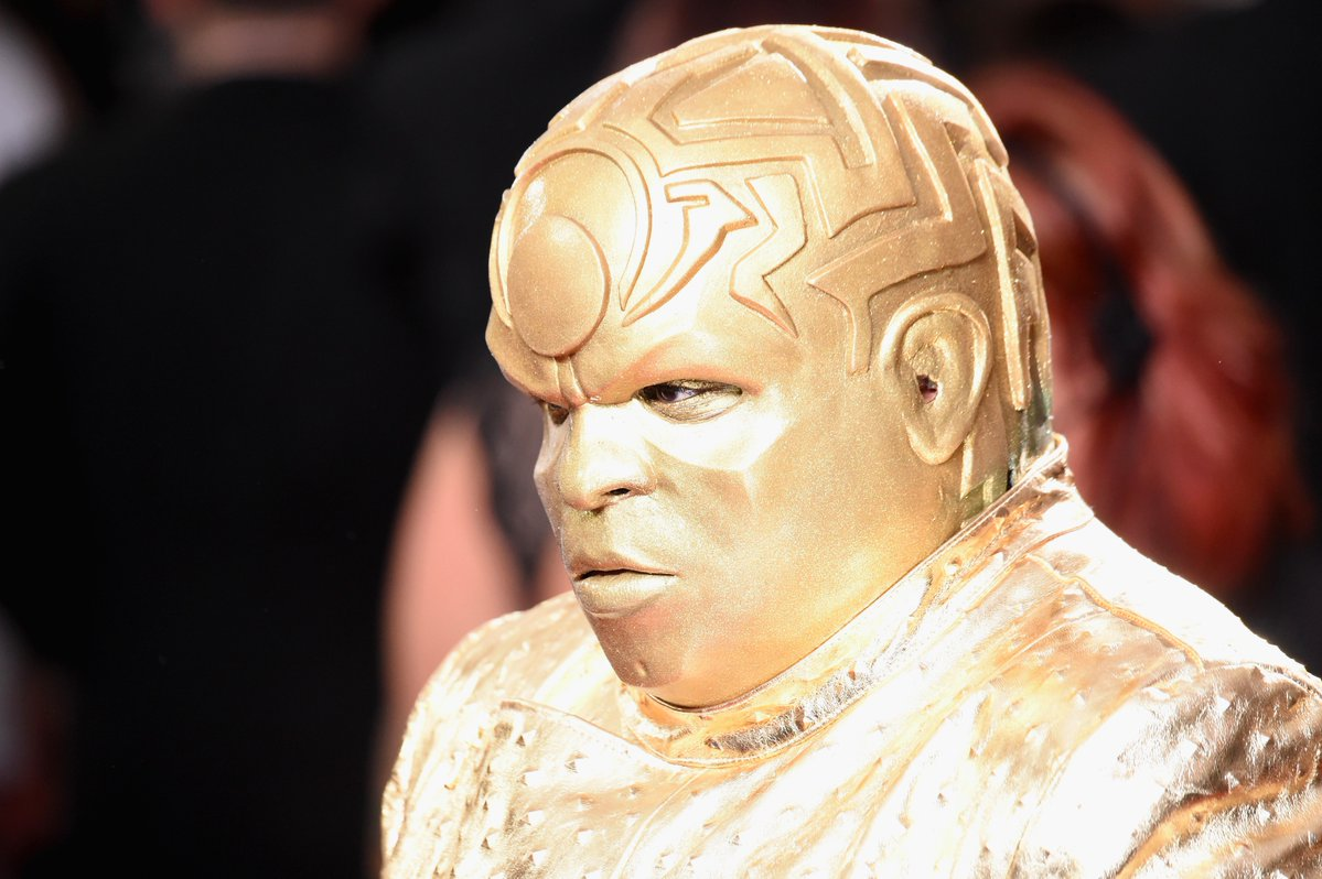 CeeLo turned the Grammys red carpet gold