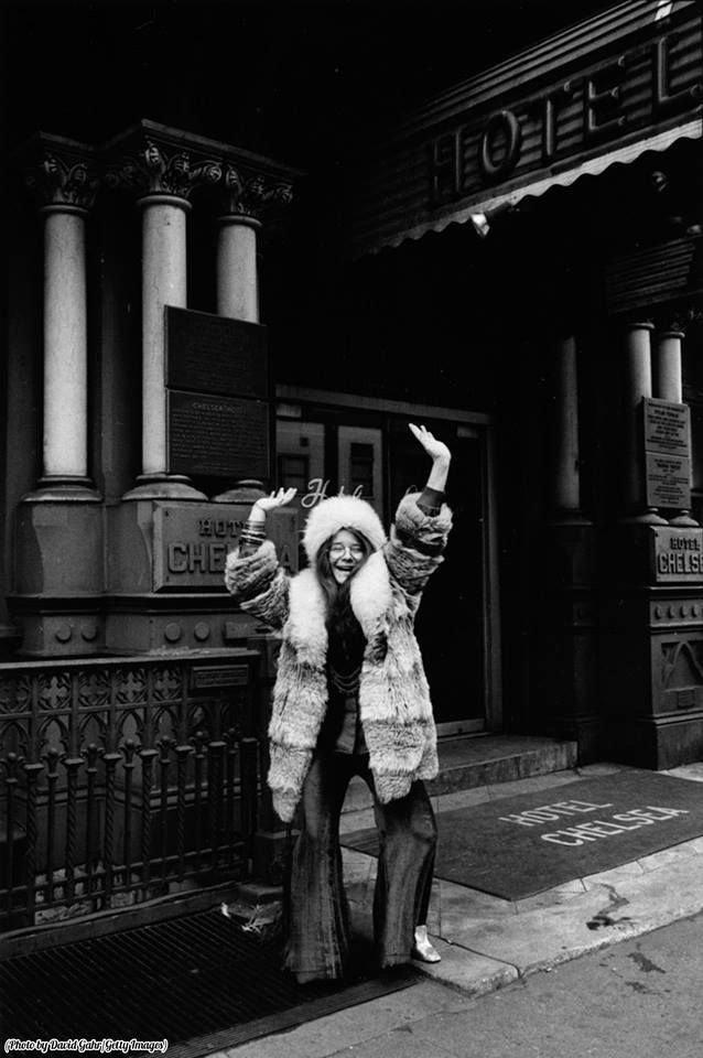 "Classic Rock In Pics on Twitter: ""Janis Joplin in front of the Chelsea Hotel, 1969… """